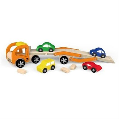 Wooden Car Carrier & 4 Cars unloading