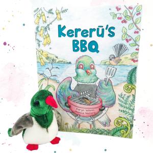 Kereru's BBQ Book + finger puppet combo
