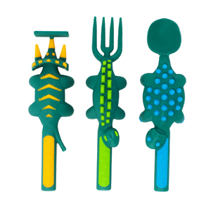 Dinosaur 3-piece Cutlery Set