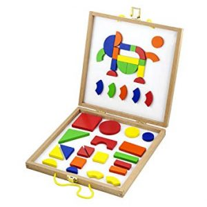 Wooden Magnetic Shapes Block Set