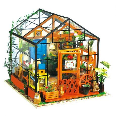 Cathys Flower House Wooden DIY House