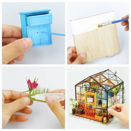 Cathys Flower House Wooden DIY House – accessories b