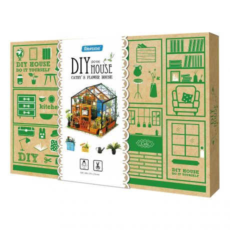 Cathys Flower House Wooden DIY House – boxed
