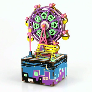 Ferris Wheel Wooden 3D Music Box Puzzle