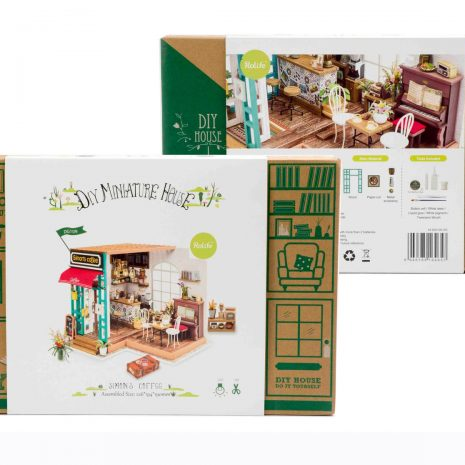 Simons Coffee Wooden DIY House - boxed