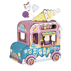 Ice Cream Truck Wooden 3D Music Box Puzzle