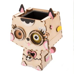 Kitty Wooden DIY Flower Pot