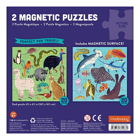 Land and Sea Animals Magnetic Puzzle reverse