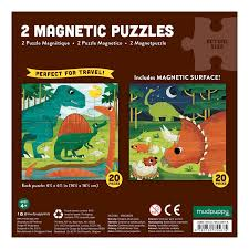 Mighty Dinosaurs Magnetic Puzzle - reverse