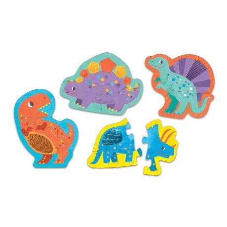 Mighty Dinosaurs Touch & Feel Puzzle b