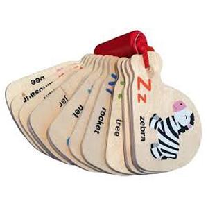 Wooden Mini Alphabet Book