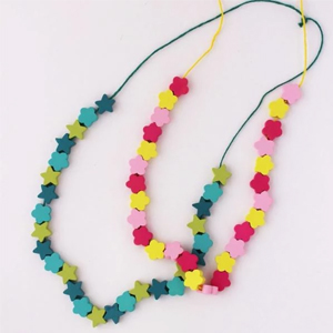 Make your own Wooden Bead Necklace