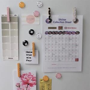 Make your own fridge magnets c