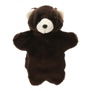 Dark Brown Bear Hand Puppets