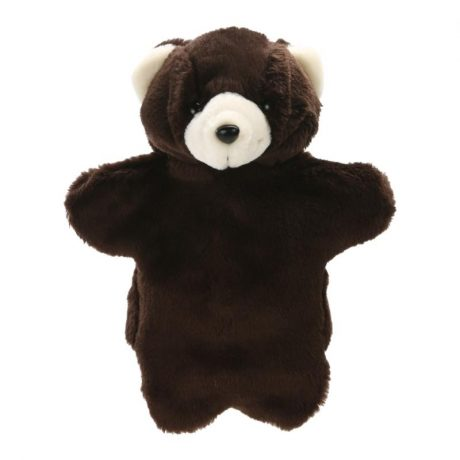 Dark Brown Bear Hand Puppet