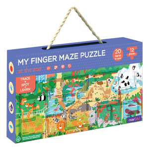 Finger Maze Puzzle At The Zoo