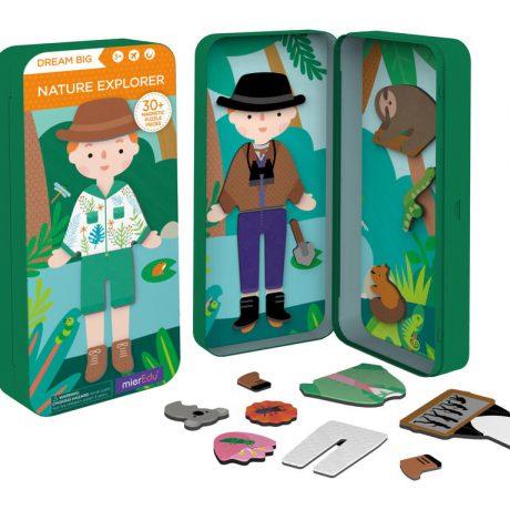 Magnetic travel puzzle box – nature explorer