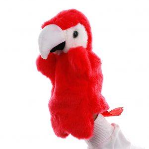 Red Parrot Hand Puppets
