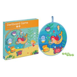 mermaid treasure dartboard game