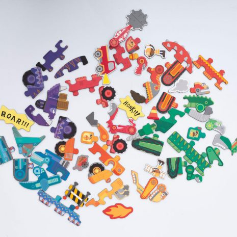 Diggersaurs Puzzle and Draw Magnetic Kit - inside a