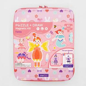 Fairy Tales Puzzle & Draw Magnetic Kit