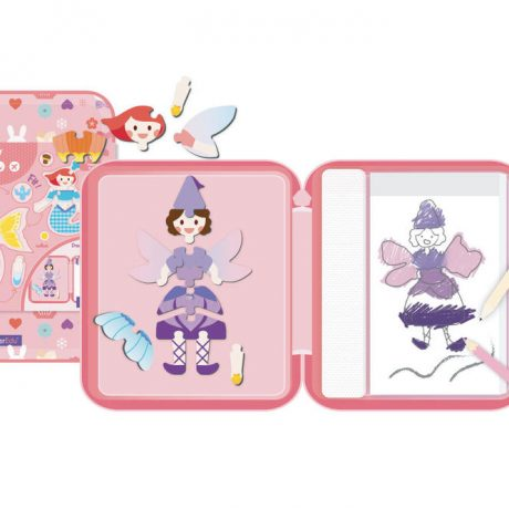 Fairy Tales Puzzle and Draw Magnetic Kit – inside