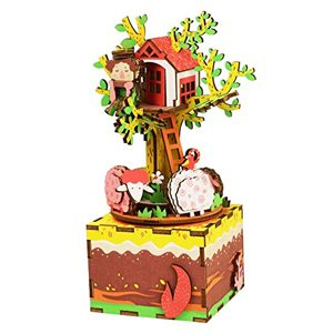 Tree House Wooden 3D Music Box Puzzle