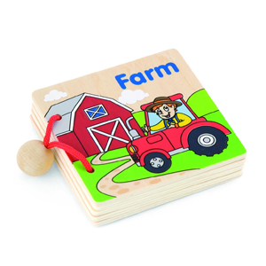 Wooden My First Book Farm