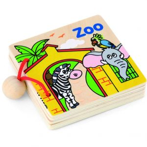 Wooden My First Book Zoo