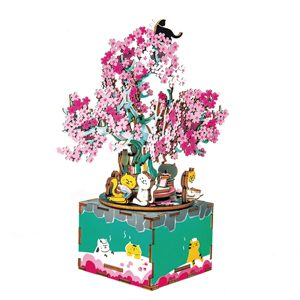 Cherry Blossom Tree Wooden 3D Music Box Puzzle