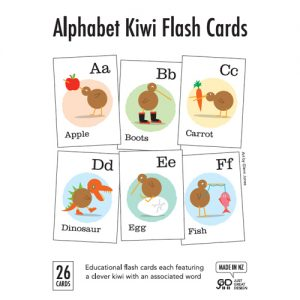 Kiwi Alphabet Flash Cards