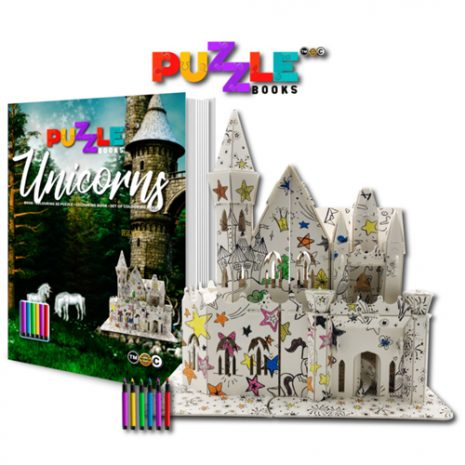 Unicorns 3D Puzzle Book