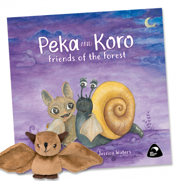 Peka and Koro Friends of the Forest and plush toy