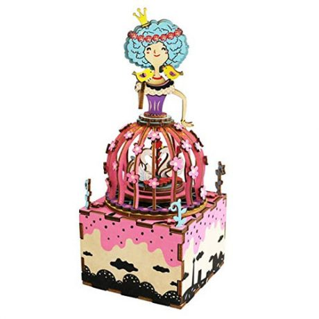Princess Wooden 3D Music Box Puzzle