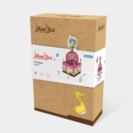 Princess Wooden 3D Music Box Puzzle boxed