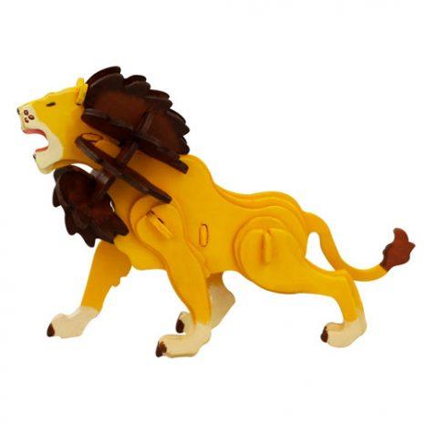 Wooden Lion 3D Painting Puzzle