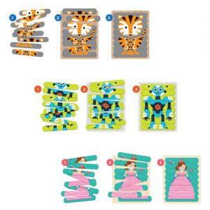 Wooden Puzzle Sticks Bundle 3 Pack