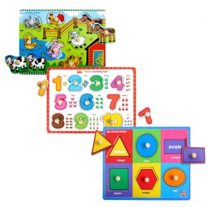 Wooden Knob Puzzle Bundle