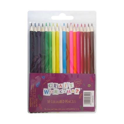 Wooden Coloured Pencils 18 pack