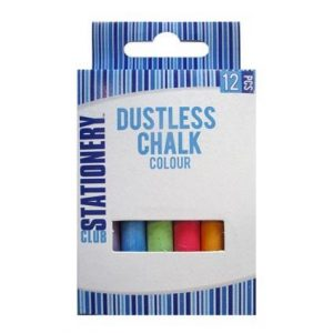 Coloured Chalk 12 pack
