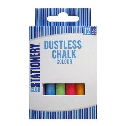 Coloured Chalk 12 pack