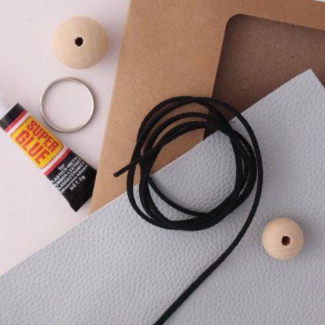 Make your own leather keyring DIY craft kit b