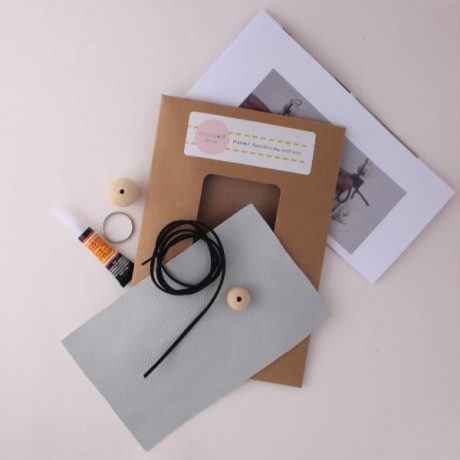 Make your own leather keyring DIY craft kit c