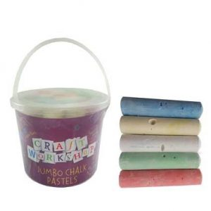 Jumbo Coloured Chalk 20 pack