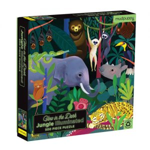 Jungle Illuminated Glow in the dark puzzle 500pc