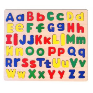 Large Wooden Lower & Upper Case Alphabet Puzzle