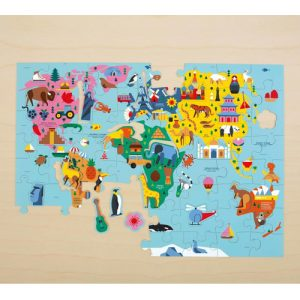 Map of the world puzzle 78pc