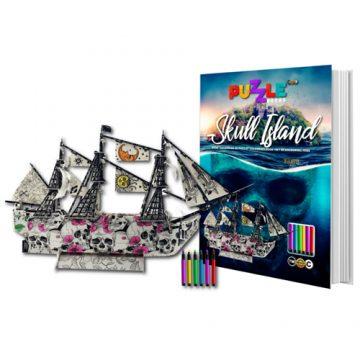 Skull island 3d puzzle book