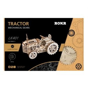 Wooden 3D Mechanical Tractor