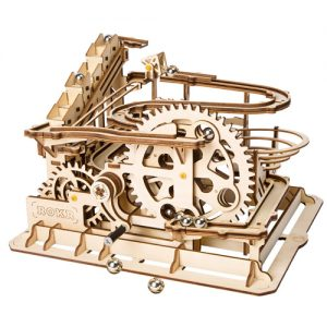 Wooden 3D Mechanical Water Wheel Marble Run